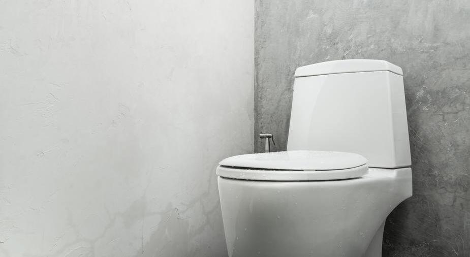 White toilet bowl concrete wall (Demo)