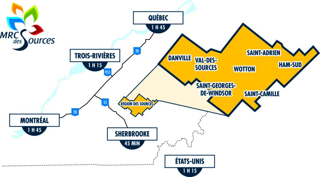 Carte Région des Sources